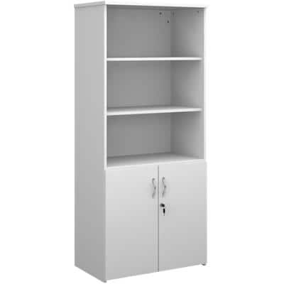 Dams International Combination Unit Lockable with 4 Shelves Melamine Universal 800 x 470 x 1790mm White