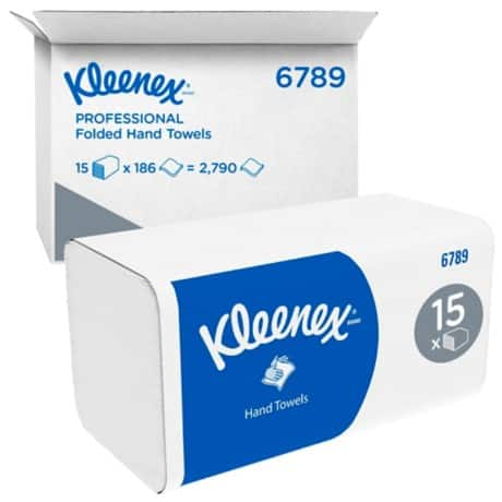 Kleenex Hand Towels 6789 2 ply 15 pieces of 186 sheets