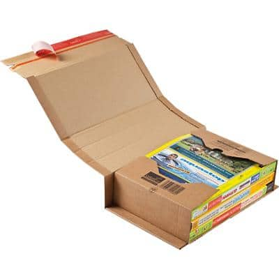 ColomPac Universal Postal Boxes 225 (W) x 100 (D) x 353 (H) mm Brown Pack of 20