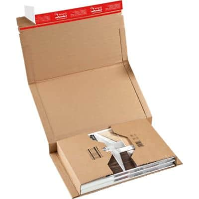 ColomPac Universal Postal Boxes 265 (W) x 100 (D) x 380 (H) mm Brown Pack of 20