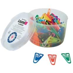 Laurel Plastic Paper Clips - pack 200