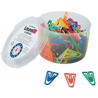 Laurel Paper Clips 126130399 Polystyrene Assorted 3.5 cm 200 Pieces