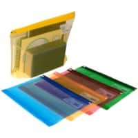 Snopake High Capacity Zippa Bags Assorted Colours 370 x 260 mm - Pack of 25