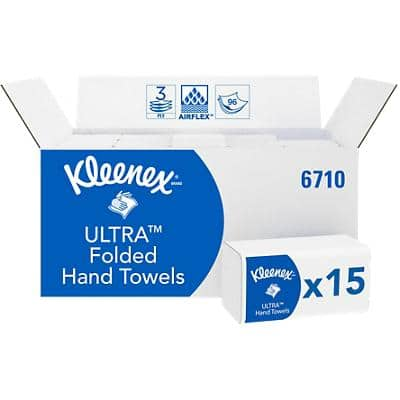 Kleenex Hand Towels 6771 3 Ply Z-fold White 30 Pieces of 96 Sheets