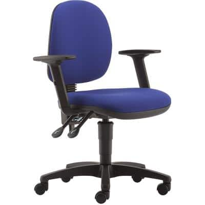 Pledge Permanent Contact Ergonomic Office Chair with Adjustable Armrest and Seat TW2003 Blue