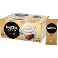 NESCAFÉ Gold Latte Instant Ground Coffee Sachets Granules 19.5g 40 Pieces