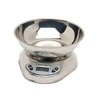 Genware Digital Scales with Bowl Stainless Steel 5kg Silver
