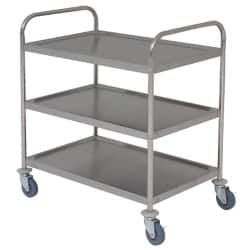 Genware 3 Shelf Trolley Stainless Steel 85.5 x 53.5 x 93cm