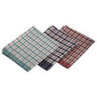 Genware Mini Check Tea Towel Cotton, Polyester Assorted Pack of 10