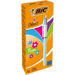 Bic 4 Colours Pen, Assorted - Pack of 12