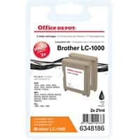 Office Depot Compatible Brother LC1000BK Ink Cartridge Black Pack of 2