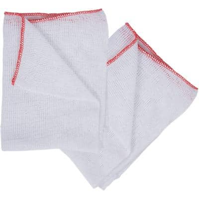 Robert Scott Dish Cloths Bleached White 10 Pieces