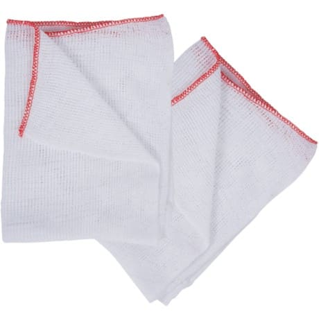 "16"" X 12"" BLEACHED DISHCLOTH RED EDGE PACK OF 10"