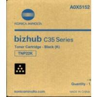 Konica Minolta TNP22K Original Toner Cartridge A0X5152 Black
