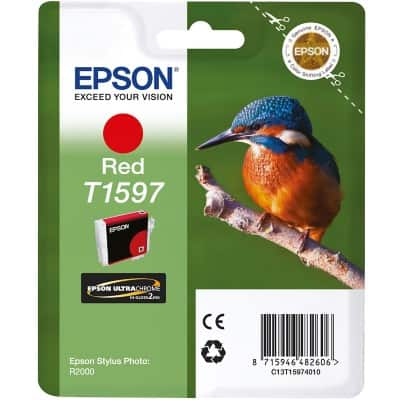 Epson T1597 Original Ink Cartridge C13T15974010 Red