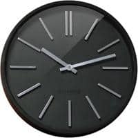 Orium by CEP Analog Wall Clock 11045 35 x 4.8cm Black & Silver
