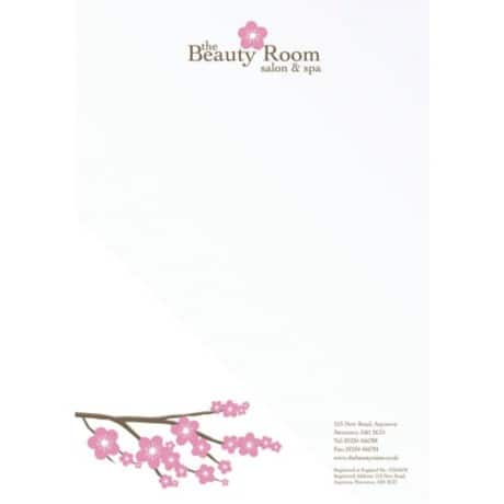 Personalised vellum wove letterheads- box of 1001