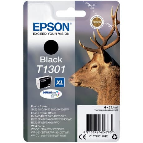 Epson T1301 Original Ink Cartridge C13T13014012 Black