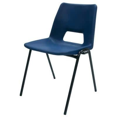 Stacking Chair Harmony Blue 4 Pieces