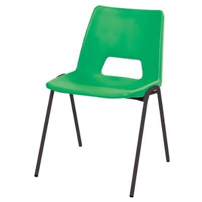 Stacking Chair Harmony Plastic Green 4 Pieces