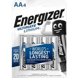 Energizer Batteries Ultimate Lithium AA 4 pieces