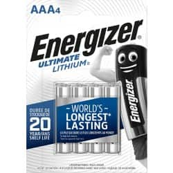 Energizer Batteries Ultimate Lithium AAA 4 pieces