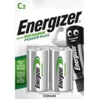 Energizer Rechargeable Batteries Power Plus C 2 Pieces