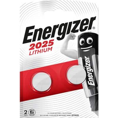 Energizer Button Cell Batteries CR2025 3V Lithium 2 Pieces
