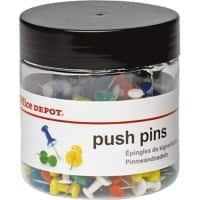 Office Depot Push Pins Assorted Colour Pack of 200