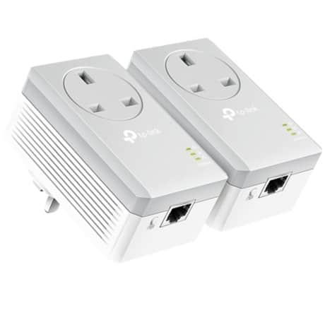 TP-LINK Powerline Starter Kit Passthrough Powerline AV600