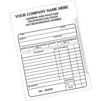 Customised Forms Receipt Pad 15.2 x 9.8 cm 10 Pieces