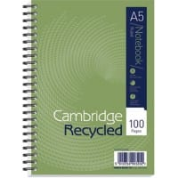 Cambridge Notebook A5 Ruled Green 5 Pieces of 50 Sheets