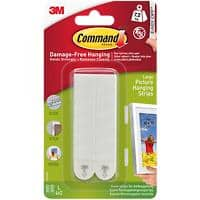 Command™ Large Picture Mounting Strip 7.2 kg Holding Capacity White Pack of 4