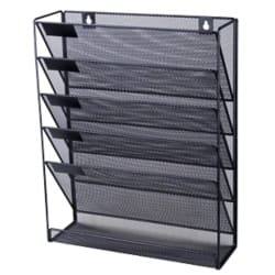 Office Depot Mesh wall literature holder Black
