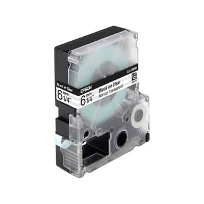 Epson LabelWorks tape cartridge - black on transparent - 6mm x 9m C53S623403