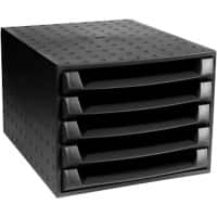 Exacompta Drawer Multiform Forever Plastic Black 28.4 x 38.7 x 21.8 cm