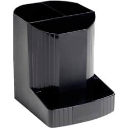 Exacompta Pen/Pencil Holder 675014D polypropylene Black 12.3 x 9 x 11.1 cm