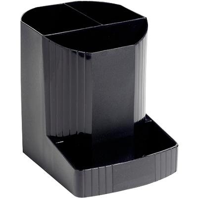 Exacompta Pencil Pot 675014D Polypropylene Black 9 x 11.1 x 12.3 cm