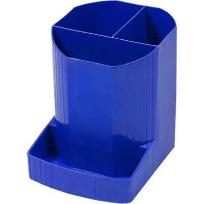 Exacompta Pencil Pot 675101D Polypropylene Blue 9 x 11.1 x 12.3 cm