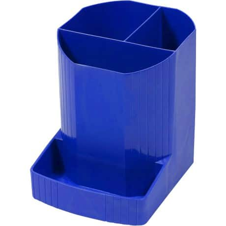 Exacompta Pencil Pot 675101D Polypropylene Blue 12.3 x 9 x 11.1 cm
