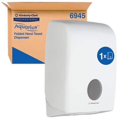 AQUARIUS Hand Towel Dispenser 6945 Plastic White 26.5 x 14 x 39.9 cm