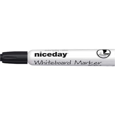 Niceday WCM1-5 Whiteboard Marker Chisel Black 12 Pieces