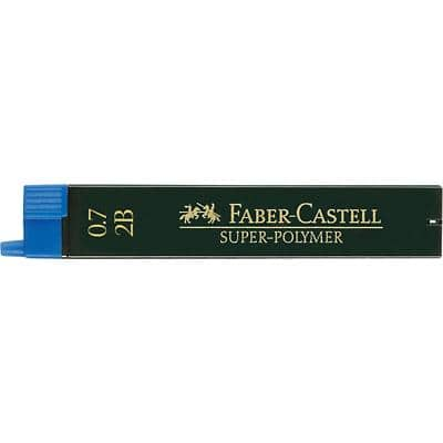 Faber-Castell Pencil Leads Refill Super Polymer 0.7 mm 2B Black Pack of 12