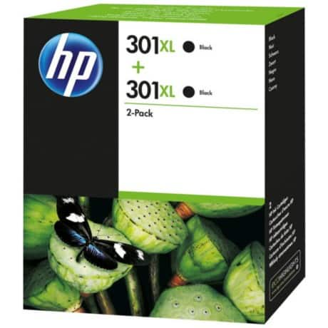 HP 301XL Original Ink Cartridge D8J45AE Black 2 pieces