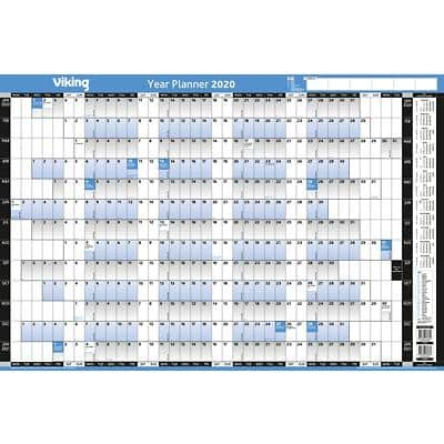 Viking Wall Planner Unmounted 2020 White, Blue