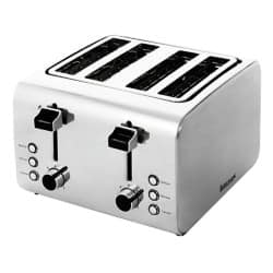 Igenix stainless steel 4 slice toaster