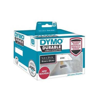DYMO LW Durable Multi-purpose Labels 1933085 Black on White 19 mm x 64 mm 900 Labels