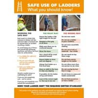 Health & Safety Poster Ladders PVC 45 x 49.5 cm