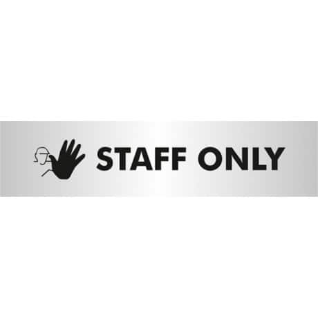 Acrylic Staff Only sign