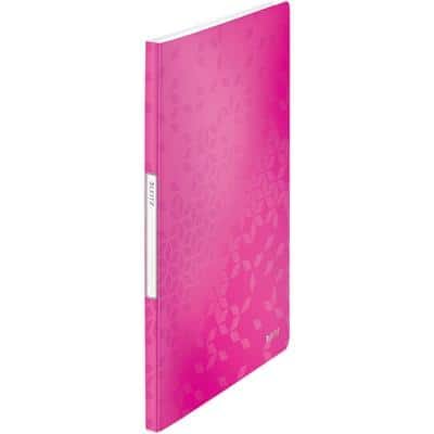 Leitz WOW Display Book A4 20 Pockets Polypropylene Pink 23.1 x 31 x 1.3 cm